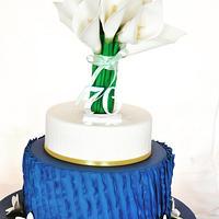 Arum Lilies & Frangipani Cake