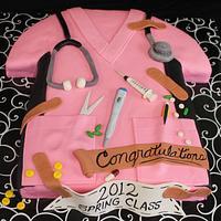 Pink Scrubs Top Cake