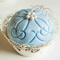 Blue Lace and Ribbons by Rachel