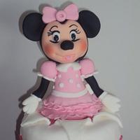 Tarta de Minnie by silvia Valdearenas