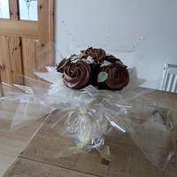 Chocolate Cupcake Bouquet