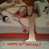 Nurse's 21st birthday cake by Dell Khalil