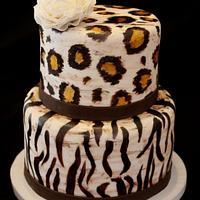 Painted Animal Print Cake