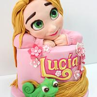 Daydreaming Rapunzel Birthday cake