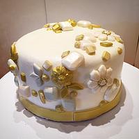 Bejeweled cake
