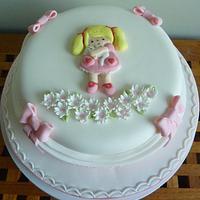 Bas relief Little girls cake