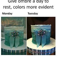 let the cake set a day - ombre gets more evident