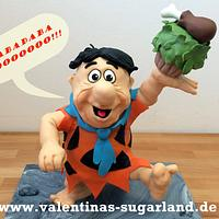 Fred Flintstone - my first Gravity Defying 3D Cake