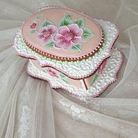 Royal icing cookie box