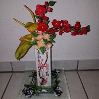 Ikebana with Gumpaste