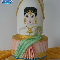 Ritika - Elegant Indian Fashion cake collaboration