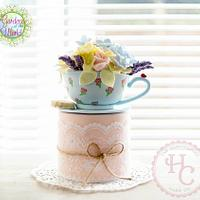 English Garden in a teacup - Gardens of the World Cake Collaboration
