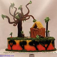 Bush Baby - inspired cake