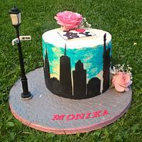 I Love New York  40th birthday cake