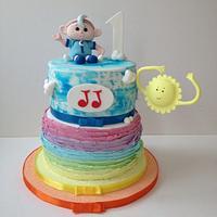 cloud baby cake