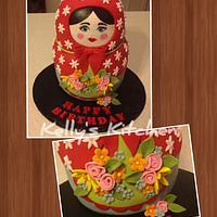 Matryoshka doll birthday cake