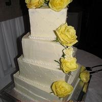 Slighlty Twisted Square wedding cake