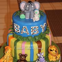Jungle Baby Shower Cake by Sonya