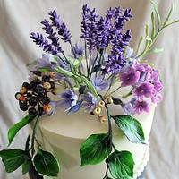 Lavender Wedding Cake