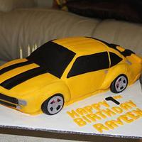 Bumble Bee Car Cake