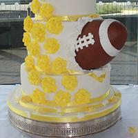 American Football Wedding Cake