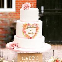 Romantic rustic cake
