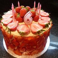 Strawberry and Elderflower Cream Cake