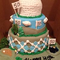 Golf cake by Beverly Coleman