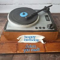 Record player cake!