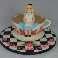 Alice in Wonderland Tea Cup