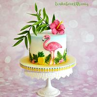 Tropical birthday cake.