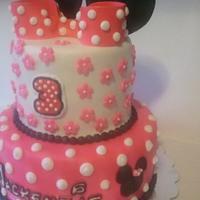 Minnie Mouse Birthday Cake by Mimi's Sweet Shoppe Amanda Burgess