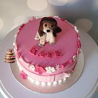 Puppyshower cake