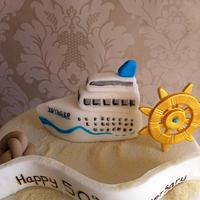Cruise themed anniversary cake by Carrie