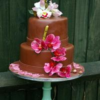 exotic orchids cake