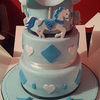 Elliot's christening  cake