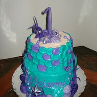 Mermaid 1st Birthday with Smash Cake
