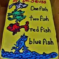 Dr. Seuss book cake (ALL ButterCream)