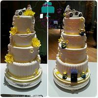 Hidden Agenda Wedding Cake