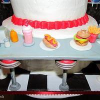 50's Diner Birthday Cake by Samantha Eyth