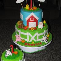 Barn cake with smash