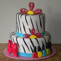 Zebra nailpolish cake