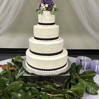 Quilted Wedding Cake by Theresa