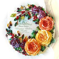 Autumn Anniversarycake