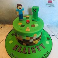 Minecraft Communion Cake