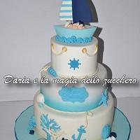 Baby Sailor christening cake