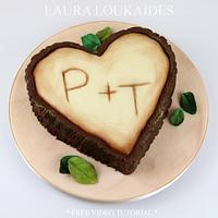 Valentines Tree Carving Cake