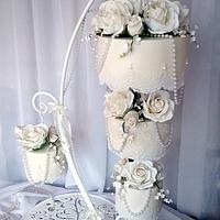 Simplicity - hanging chandelier cake