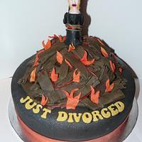 Divorce Witch Cake