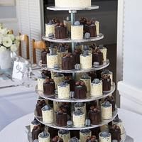 Mini Cakes Wedding Cake